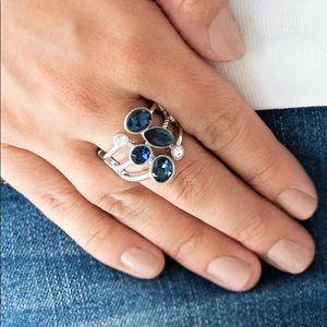 Beautiful Blue Dark Moonstone Ring